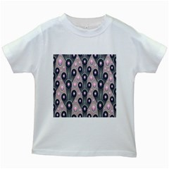 Background Abstract Pattern Grey Kids White T-Shirts