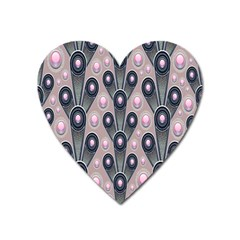 Background Abstract Pattern Grey Heart Magnet