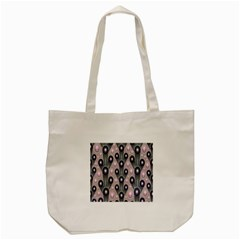 Background Abstract Pattern Grey Tote Bag (Cream)