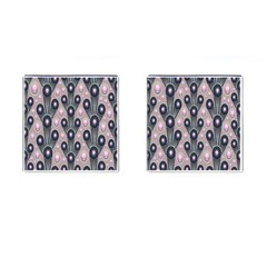 Background Abstract Pattern Grey Cufflinks (Square)