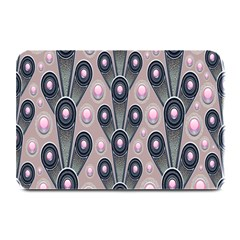 Background Abstract Pattern Grey Plate Mats
