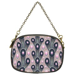 Background Abstract Pattern Grey Chain Purses (Two Sides)