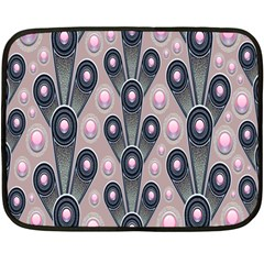 Background Abstract Pattern Grey Double Sided Fleece Blanket (Mini)