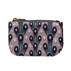 Background Abstract Pattern Grey Mini Coin Purses