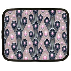 Background Abstract Pattern Grey Netbook Case (XXL)