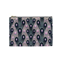 Background Abstract Pattern Grey Cosmetic Bag (Medium)