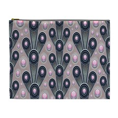 Background Abstract Pattern Grey Cosmetic Bag (XL)