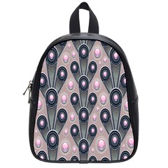 Background Abstract Pattern Grey School Bags (Small)