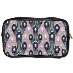 Background Abstract Pattern Grey Toiletries Bags 2-Side