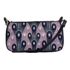 Background Abstract Pattern Grey Shoulder Clutch Bags