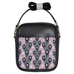 Background Abstract Pattern Grey Girls Sling Bags
