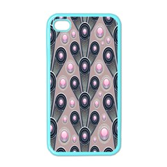 Background Abstract Pattern Grey Apple iPhone 4 Case (Color)