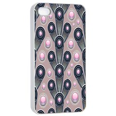 Background Abstract Pattern Grey Apple iPhone 4/4s Seamless Case (White)