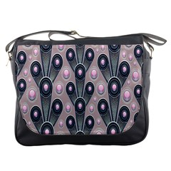 Background Abstract Pattern Grey Messenger Bags
