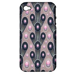 Background Abstract Pattern Grey Apple iPhone 4/4S Hardshell Case (PC+Silicone)