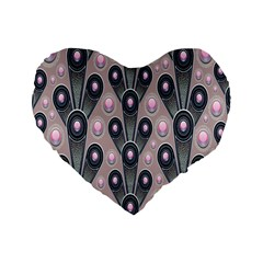 Background Abstract Pattern Grey Standard 16  Premium Heart Shape Cushions