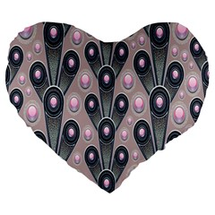 Background Abstract Pattern Grey Large 19  Premium Heart Shape Cushions