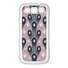 Background Abstract Pattern Grey Samsung Galaxy S3 Back Case (White)