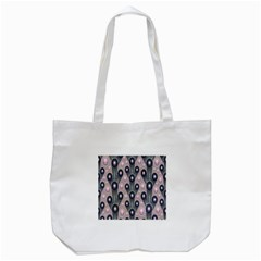 Background Abstract Pattern Grey Tote Bag (White)
