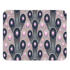 Background Abstract Pattern Grey Double Sided Flano Blanket (Large)