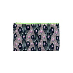 Background Abstract Pattern Grey Cosmetic Bag (XS)