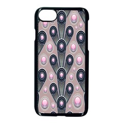 Background Abstract Pattern Grey Apple iPhone 7 Seamless Case (Black)