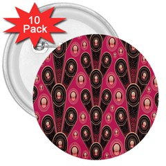 Background Abstract Pattern 3  Buttons (10 pack)