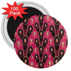 Background Abstract Pattern 3  Magnets (100 pack)