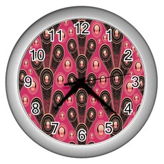 Background Abstract Pattern Wall Clocks (Silver)