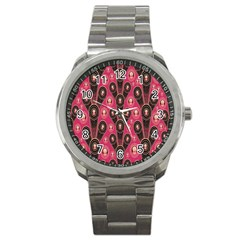 Background Abstract Pattern Sport Metal Watch
