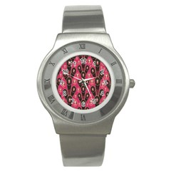 Background Abstract Pattern Stainless Steel Watch