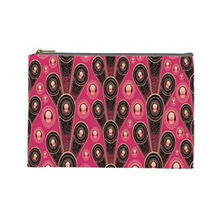 Background Abstract Pattern Cosmetic Bag (Large)