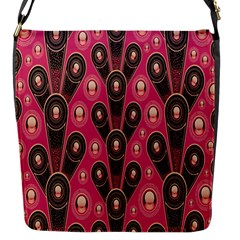 Background Abstract Pattern Flap Messenger Bag (S)