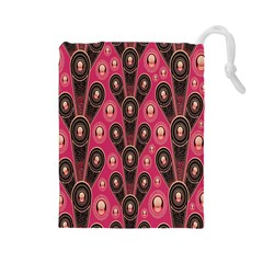 Background Abstract Pattern Drawstring Pouches (Large)