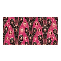 Background Abstract Pattern Satin Shawl