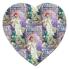 Alfons Mucha 1896 La Dame Aux Cam¨|lias Jigsaw Puzzle (Heart)