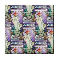 Alfons Mucha 1896 La Dame Aux Cam¨|lias Face Towel