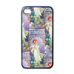 Alfons Mucha 1896 La Dame Aux Cam¨|lias Apple iPhone 4 Case (Black)