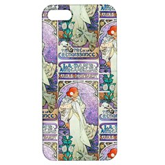 Alfons Mucha 1896 La Dame Aux Cam¨|lias Apple iPhone 5 Hardshell Case with Stand