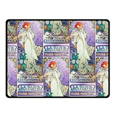 Alfons Mucha 1896 La Dame Aux Cam¨|lias Double Sided Fleece Blanket (Small)