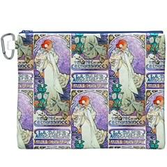 Alfons Mucha 1896 La Dame Aux Cam¨ lias Canvas Cosmetic Bag (XXXL)
