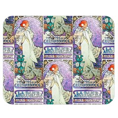 Alfons Mucha 1896 La Dame Aux Cam¨|lias Double Sided Flano Blanket (Medium)