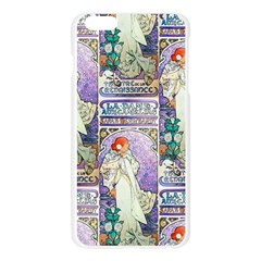 Alfons Mucha 1896 La Dame Aux Cam¨|lias Apple Seamless iPhone 6 Plus/6S Plus Case (Transparent)