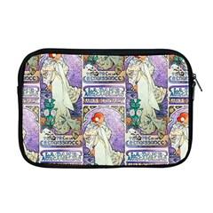 Alfons Mucha 1896 La Dame Aux Cam¨|lias Apple MacBook Pro 17  Zipper Case