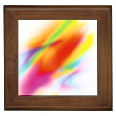 Blur Color Colorful Background Framed Tiles
