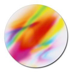 Blur Color Colorful Background Round Mousepads
