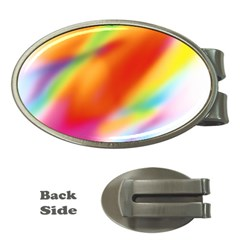 Blur Color Colorful Background Money Clips (Oval)