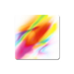 Blur Color Colorful Background Square Magnet