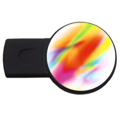 Blur Color Colorful Background USB Flash Drive Round (2 GB)