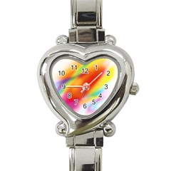 Blur Color Colorful Background Heart Italian Charm Watch